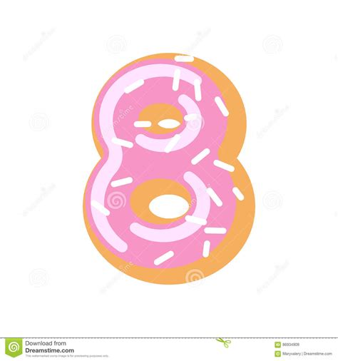 Donuts Number number 8 donut doughnut font sweet alphabet
