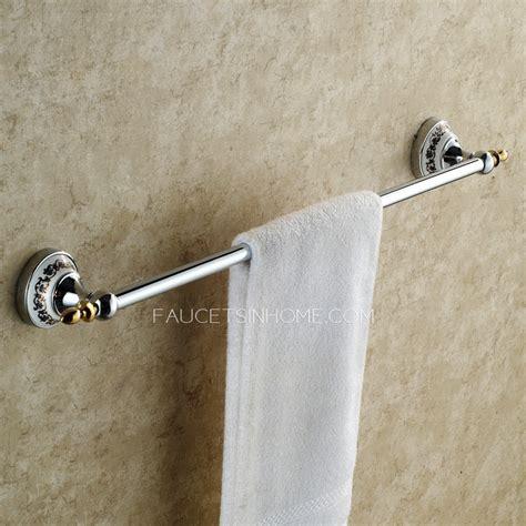 modern silver single porcelain towel bars  bathroom