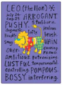 leo sign negative traits fridge magnet