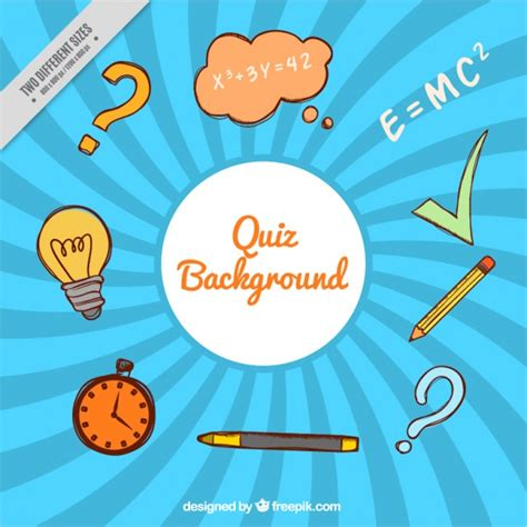 background quiz quiz background with hand drawn items vector free download