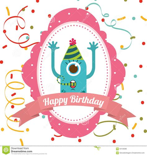 happy birthday card design vector illustration happy birthday card design stock vector image 63136086