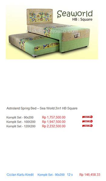 Jual Kasur Palembang Murah Di Jakarta harga astroland bed termurah di indonesia kasur