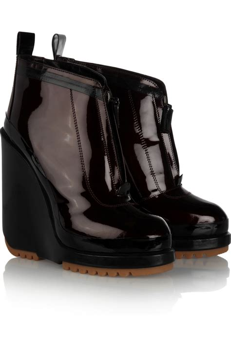 marc patent leather wedge boots shopping