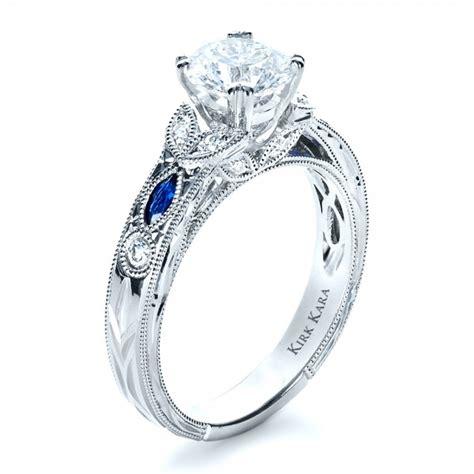 Blue Sapphire Engagement Rings by Blue Sapphire Engagement Ring Kirk Kara 1415 Bellevue