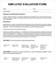 blank evaluation form template employee evaluation form template 10 free word pdf