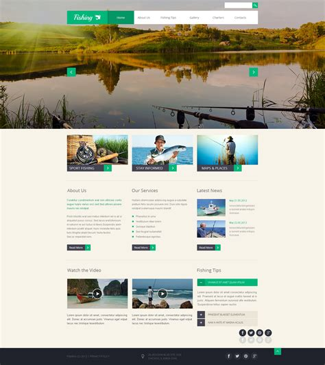 Fishing Templates by Fishing Responsive Website Template 46573