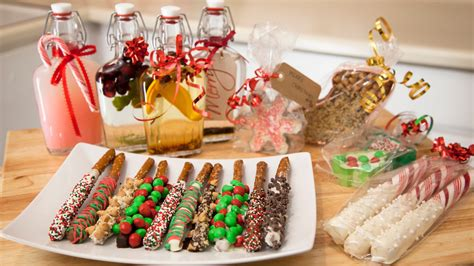 3 holiday edible gift ideas chocolate pretzels cookie