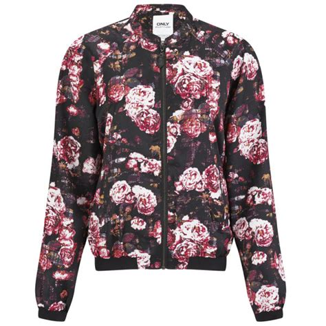 Flowries Bomber Jaket only s floral bomber jacket black womens clothing thehut