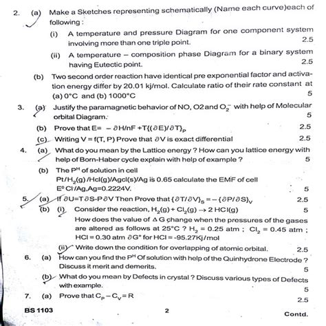 chemistry tutorial questions bput b tech chemistry question first year