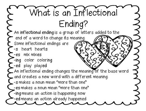 grade wow i inflectional endings