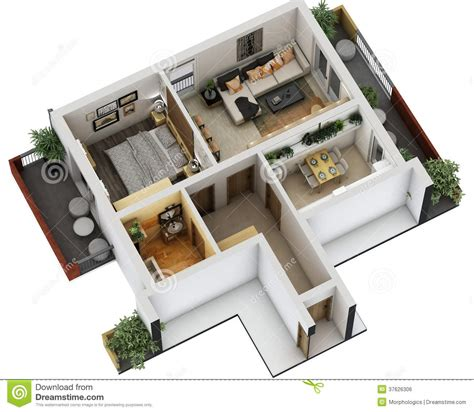 3d floor plans free 3d floor plan royalty free stock image image 37626306