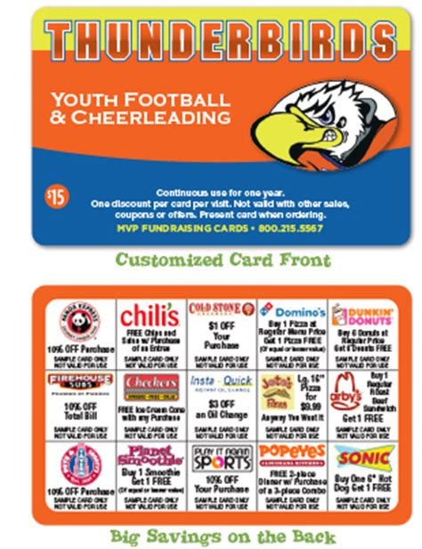 Gift Card Fundraisers - good fundraising ideas 15 merchant fundraising discount cards for churches schools