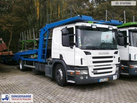 scania p380 car transporter eurolohr autotransporter truck