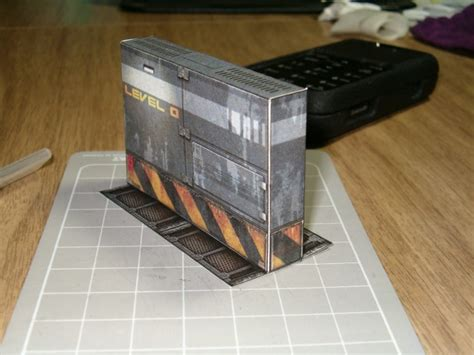 ratman does some papercraft terrain