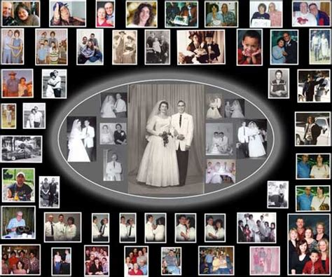 Wedding Anniversary Collage Ideas by Photo Collage Wedding Photo Collage