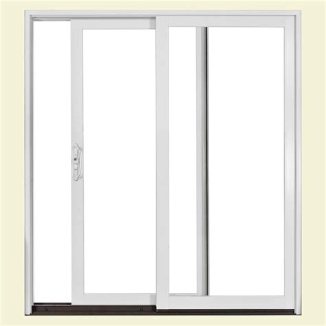 Jeld Wen 72 In X 80 In W2500 Series Right Hand Sliding Home Depot Sliding Glass Patio Doors