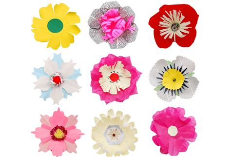 Simple Paper Flowers For Children To Make - how to make paper flowers for