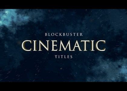 Amazing After Effects Templates No Plugins Required Cinematic Title After Effects Template
