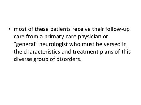 pattern recognition in primary care approach to treatment of movement disorders