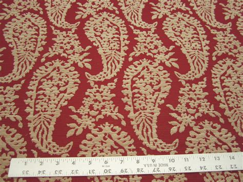 chinese upholstery fabric 2 5 8 yards of chinese red paisley upholstery fabric