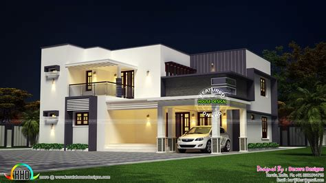 5 bhk modern flat roof house design kerala home design and floor plans house sq ft details ground floor sq ft sq flat roof contemporary home design home kerala