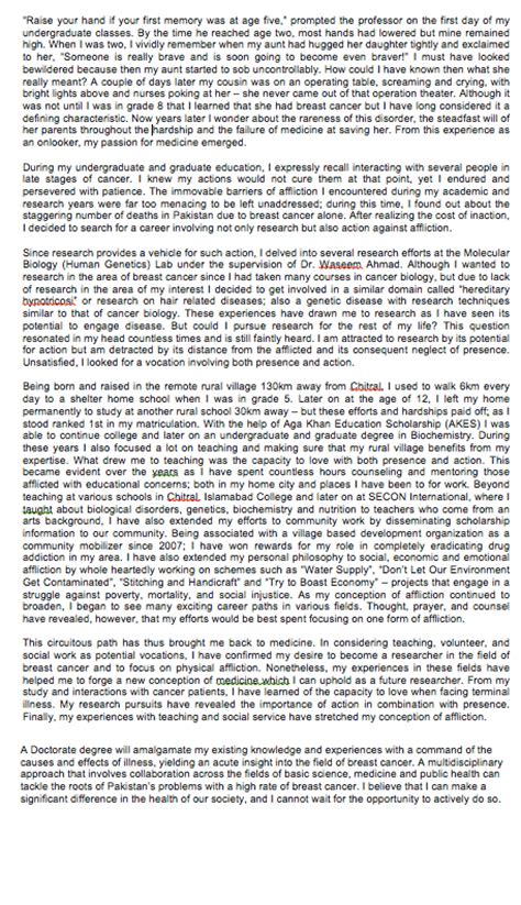 sle personal statement john hopkins cancer research