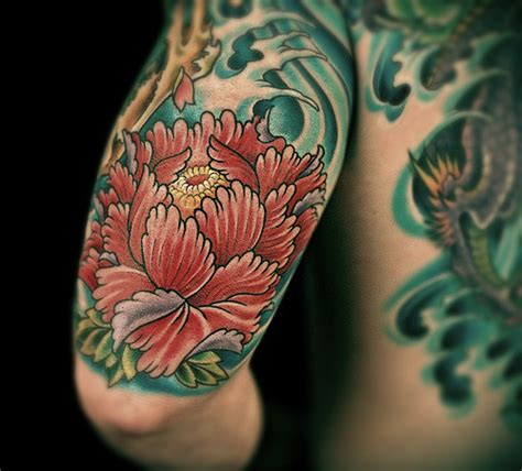 yakuza tattoo flower peonies in japanese art cricket hill garden