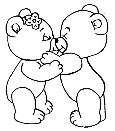Cute Bear Kissing I Love You Coloring Pages Batch Coloring Free Printable Teddy Coloring Pages