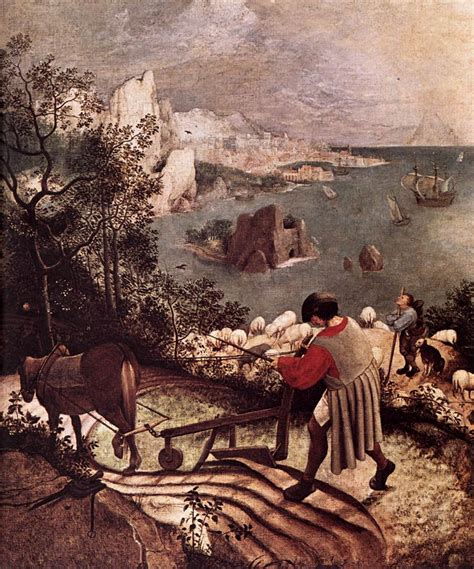 Landscape With The Fall Of Icarus Painting Landscape With The Fall Of Icarus Detail By Bruegel
