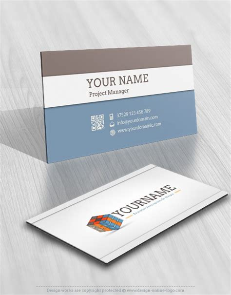540 Card Cube Template by Vintage Rubik S Cube Logo Free Business Card