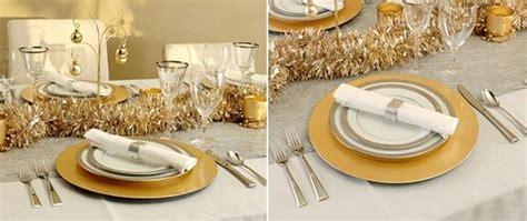 Déco Table Jour De L An Pas Cher by Deco Table Noel Or Blanc D 233 Coration De No 235 L D 233 Co 233 Colo