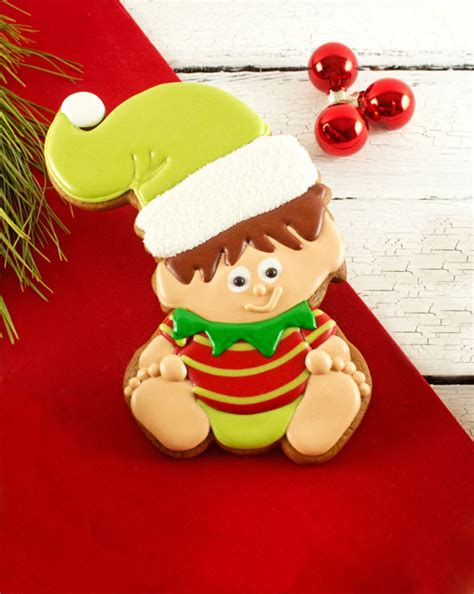 Perfect Little House baby elf cookies for christmas the bearfoot baker