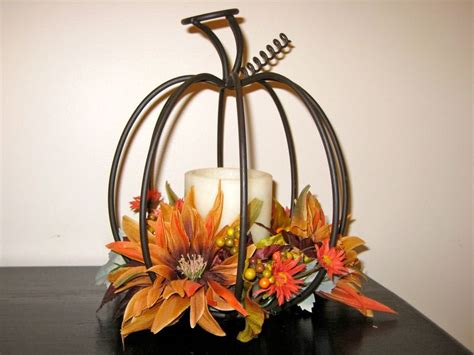 wire pumpkin candle nuptials pinterest