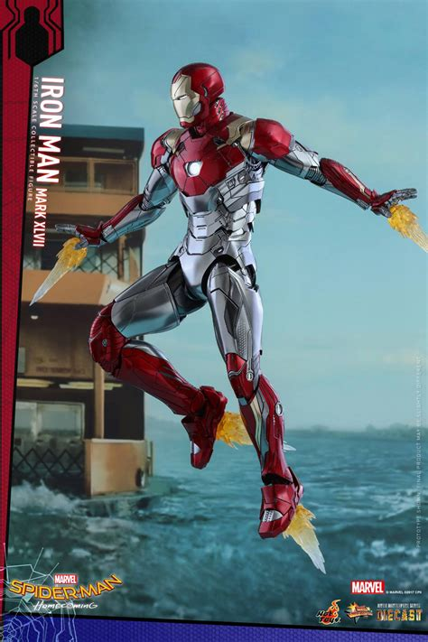 hot toys spider man homecoming iron man mk xlvii hot toys spider man homecoming iron man mark xlvii action