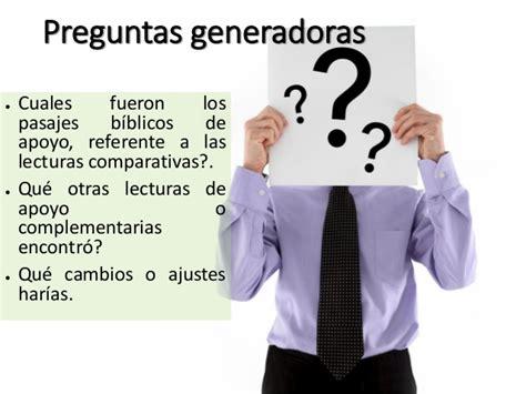 preguntas generadoras y complementarias homiletica taller