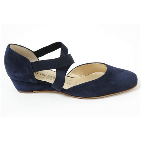 kaiser jaila notte navy suede corss low