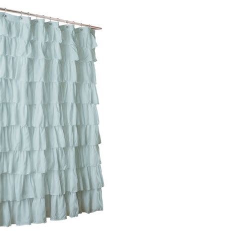 Target Shower Curtains For lush d 233 cor large ruffle shower curtain target
