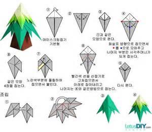 Korean Paper Folding - korean paper folding tree letusdiy org diy