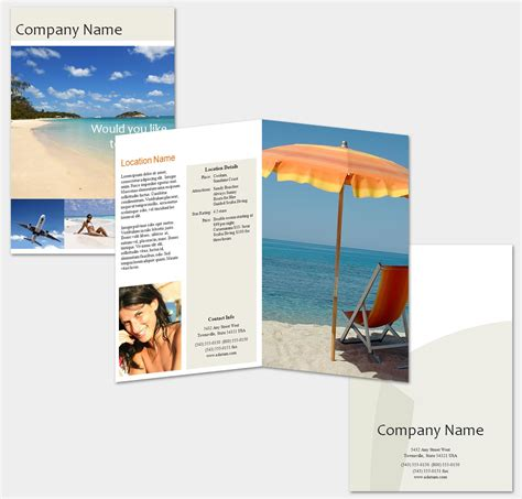 tourist brochure template free travel brochure template