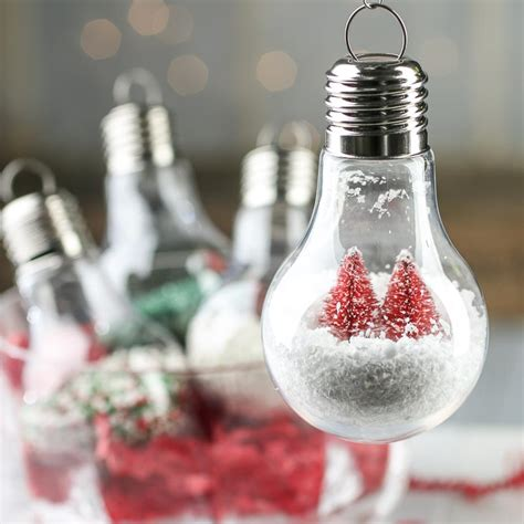 acrylic fillable light bulb ornament acrylic fillable