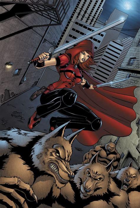 Kaos T Shirt Pop Culture 05 scarlet huntress comic is about killing werewolves but