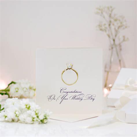 Wedding Congratulation Card Design by Ring Personalised Wedding Congratulations Card By