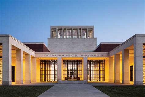 the george w bush library designed by robert a m architectural digest