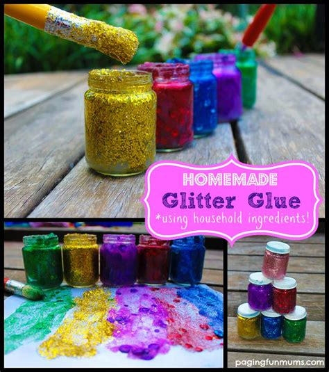 glitter glue easy and inexpensive to make using