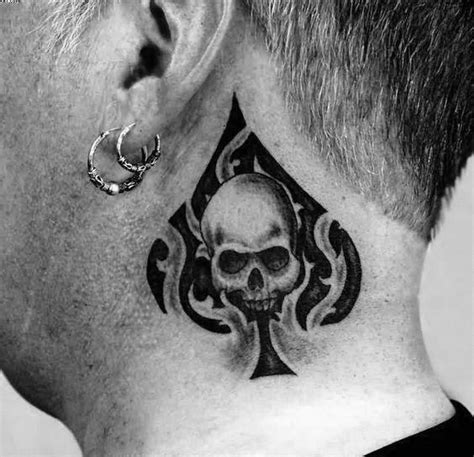 ace of spade tattoo designs 50 tribal skull tattoos for masculine design ideas