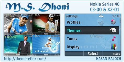 animated themes themes nokia x2 m s dhoni animated theme for nokia c3 x2 01 themereflex