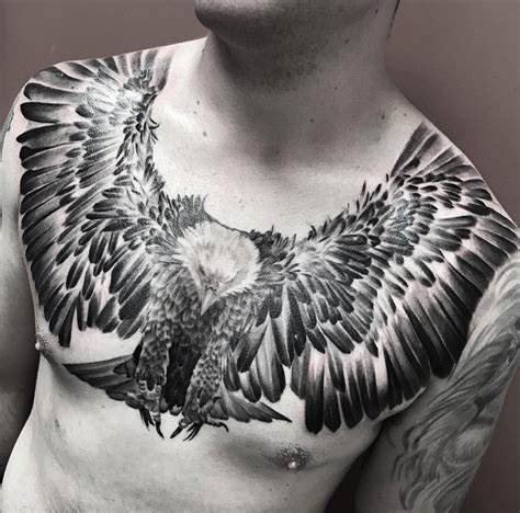 eagle chest tattoo designs flying eagle with talons ready mens chest best