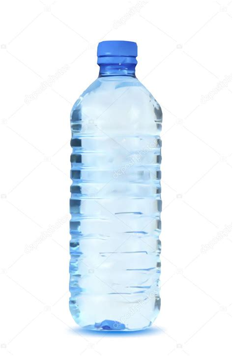 Fond Of Bottled Water by Bouteille D Eau Bleu Sur Fond Blanc Vector Image