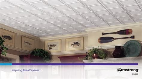 Armstrong Ceiling Tile 1201 by Raised Panel Homestyle Ceilings Coffered Paintable 2 X 2