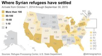 us map of states refusing refugees state governors refuse syrian refugees 98 muslim who
